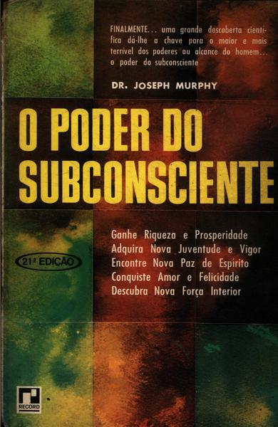 livro o poder do subconsciente